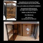 Schreibtisch mit Rollcontainer neu unbenutzt