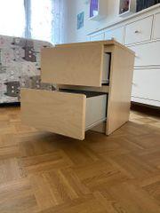 Ikea Nachtschrank Malm Birkefunier zu
