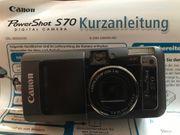 Canon PowerShot S70 Kamera mit