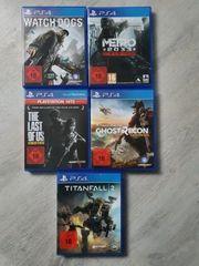 Verschiedene PS4 Spiele neuwertig
