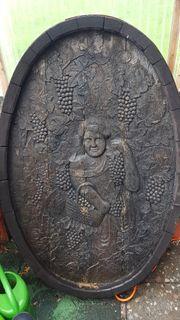 Antiquität Weinfass kunstvoll geschnitzt