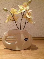 Original Designer-Vase Blumenvase weiß Handarbeit