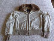 Mädchen-Jacke mit Kunstfellkragen Reißverschluß Gr