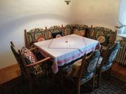 Eckbank mit Tisch Eiche rustikal