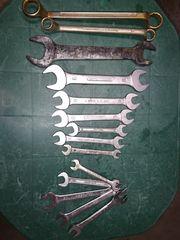 7 Gabelschlüssel aus Stahl Chrom