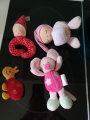 4 teilig Stoff Puppen set