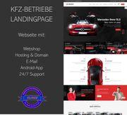 Webseite für Autohäuser KFZ-Betriebe