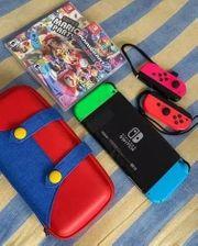 Nintendo Switch bunt mit Tasche