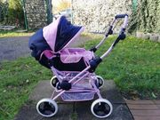Puppenwagen pink dunkelblau You and