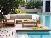 Lounge Set zertifiziertes Holz braun