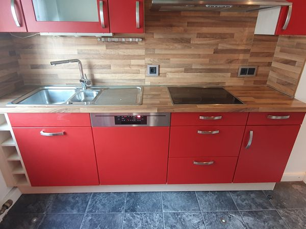 Einbauküche Küche 2 Zeilen Küchenzeile
