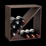 Weinflaschen-Regalsystem braun Z-Form NEU