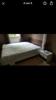 Schlafzimmer Bett Schrank Nussbaum auch