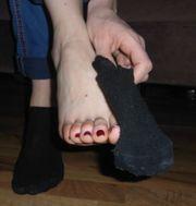 Fußduft - Getragene Socken Sneaker High-Heels