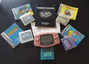 Gameboy Advance rosa Spiele komplettes