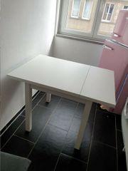 Tisch weiß ausklappbar 74 104x74