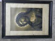 Jesusbild alt und groß Götzenbild