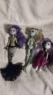 3 Monster High Puppen