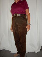 Damen-Lederhose lang