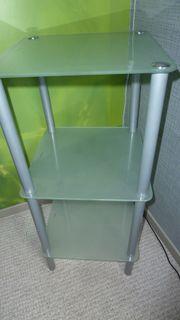Glasregal quadratisch 3 Böden satiniert