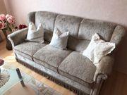 Wunderschöne Vintage-Couchgarnitur 3er Sofa 2