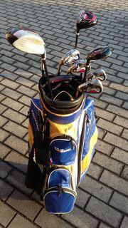 Golfbag mit Schläger für Linkshänder