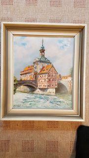 2 Ölgemälde von Bamberg - von