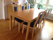Esstisch mit 6 Stühlen Massivholz