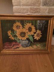 schönes Ölgemälde - Sonnenblumen