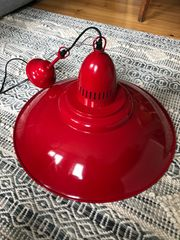 Lampe vintage Emaille rot 50cm