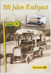 Erinnerungsblatt 100 Jahre Kraftpost