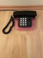 Telefon Designtelefon ultraflach Schwarz - Pink