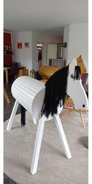 Schönes Holzpferd Voltigierpferd Handarbeit Topqualität
