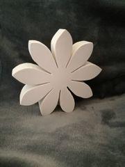 Blüte aus Massivholz Deko