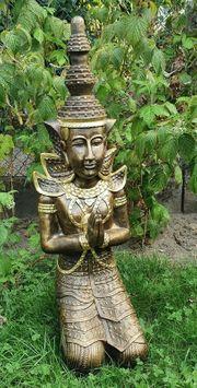 Gartenfigur Tempelwächter 74 cm Buddha
