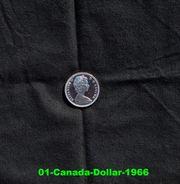 Münze Canada Dollar 1966 Kanu