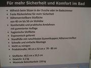 NICHT BENUTZTER HÖHENVERSTELLBARER BADHOCKER DUSCHHOCKER