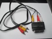 scart adapter mit Kabel Stecker-Stecker