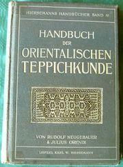 Handbuch der orient Teppichkunde v
