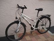 Weißes Damenrad Alu