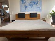 Doppelbett 180x200 Massives Eichenholz inklusive