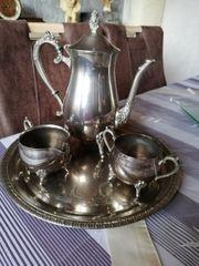 Kaffeeset aus Alpacca