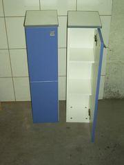 2 Badschränke blau weiß IKEA