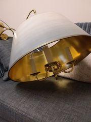 Pendellampe Pendel-Hängezuglampe Messing Eßtisch-Lampe von