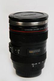 Caniam Thermo-Kaffeebecher im Kameraobjektiv Design