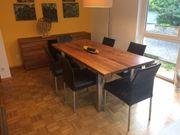 Esszimmer Tisch Sideboard und Highboard
