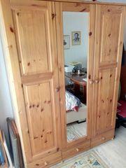 Schlafzimmerschrank Kleiderschrank 3 Türen Spiegeltür