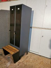 Metallspind mit Sitzbank upcycling