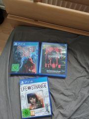 3 neuwertige PS 4 Spiele