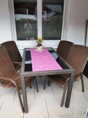 Gartentisch 4 Stühlen